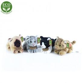 Rappa Plyšové kočky ležící Se zvukem 15 cm ECO-FRIENDLY 1ks