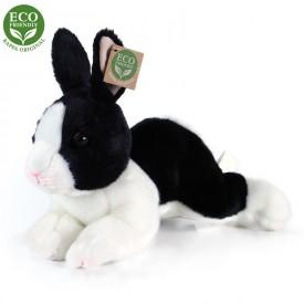 Rappa Plyšový králík bílo-černý ležící 23 cm ECO-FRIENDLY