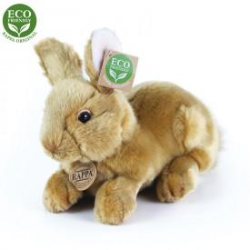 Rappa Plyšový králík hnědý ležící 23 cm ECO-FRIENDLY