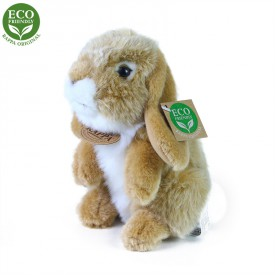 Rappa Plyšový králík béžový stojící 18 cm ECO-FRIENDLY
