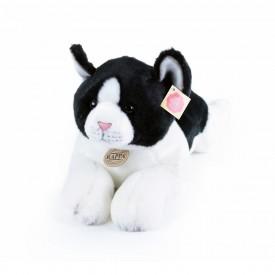 Rappa Plyšová kočka ležící černo-bílá 35 cm