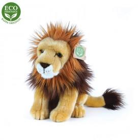 Rappa Plyšový lev sedící 18 cm ECO-FRIENDLY