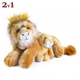 Rappa Plyšový lev ležící s mládětem 40 cm