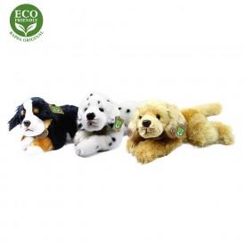 Rappa Plyšový pes ležící 30 cm ECO-FRIENDLY1 ks