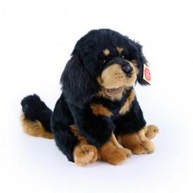 Rappa Plyšový pes Tibetská doga - mastiff sedící 26 cm
