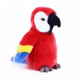 Rappa Plyšový papoušek červený 19 cm