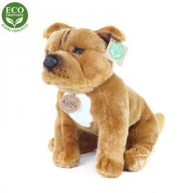 Rappa Plyšový pes stafordšírský bulteriér sedící 30 cm ECO-FRIENDLY