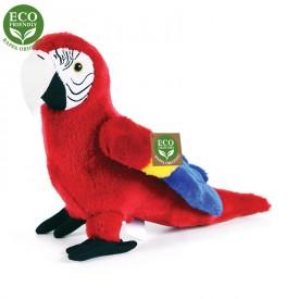 Rappa Plyšový papoušek červený Ara Arakanga 24 cm ECO-FRIENDLY