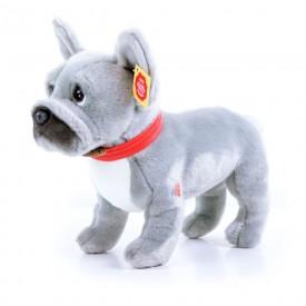 Rappa Plyšový pes francouzský buldoček šedý stojící se zvukem 30 cm