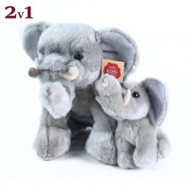 Rappa Plyšový slon sedící s mládětem 27 cm
