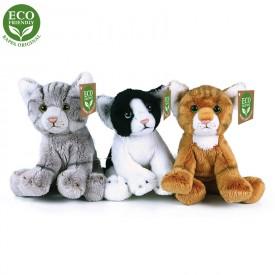 Rappa Plyšová kočka sedící 14 cm ECO-FRIENDLY ECO-FRIENDLY 1ks hnědá