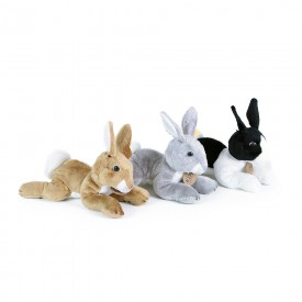 Rappa Plyšový králík ležící 3 druhy 18 cm 1 ks šedá