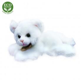 Rappa Plyšová kočka ležící 17 cm ECO-FRIENDLY 1 ks bílá