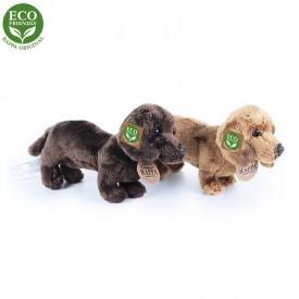 Rappa Plyšový pes jezevčík stojící 19 cm ECO-FRIENDLY 1ks tmavě hnědý