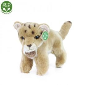 Rappa Plyšová lvice mládě stojící s tvarovatelnými končetinami 22 cm ECO-FRIENDLY