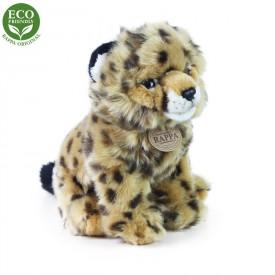 Rappa Plyšový gepard sedící 25 cm ECO-FRIENDLY