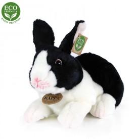 Rappa Plyšový králík bílo-černý ležící 24 cm ECO-FRIENDLY