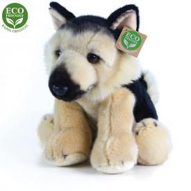 Rappa Plyšový pes něměcký ovčák sedící 30 cm ECO-FRIENDLY