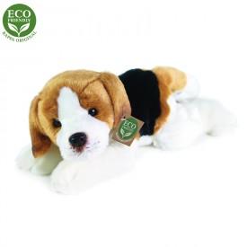 Rappa Plyšový pes Bígl ležící 30 cm ECO-FRIENDLY
