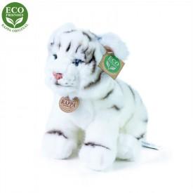 Rappa Plyšový tygr bílý sedící 25 cm ECO-FRIENDLY