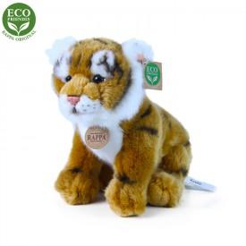 Rappa Plyšový tygr hnědý sedící 25 cm ECO-FRIENDLY