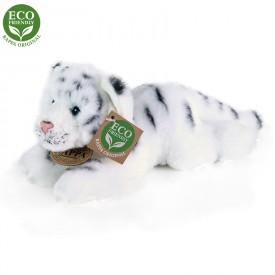 Rappa Plyšový tygr bílý ležící 17 cm ECO-FRIENDLY