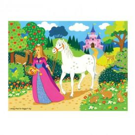 Dřevěné puzzle - Princezna - 48 dílků