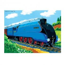 Dřevěné puzzle - Vlak Mallard - 48 dílků