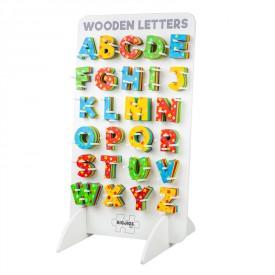 Bigjigs Toys Dřevěná hvězdičková abeceda