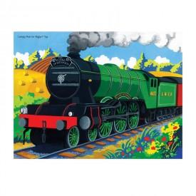 Dřevěné puzzle - Vlak Flying Scotsman  - 48 dílků