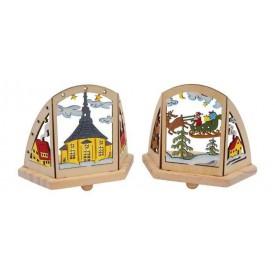 Small Foot Vánoční dekorace stojánek na čajové svíčky zima 2ks - bez obalu