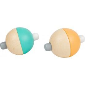 Small Foot Pískající pastelový míček 1 ks oranžová