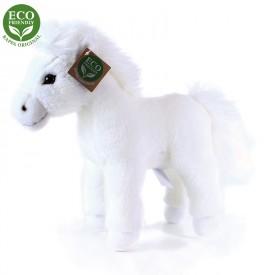 Rappa Plyšový kůň bílý stojící 25 cm ECO-FRIENDLY