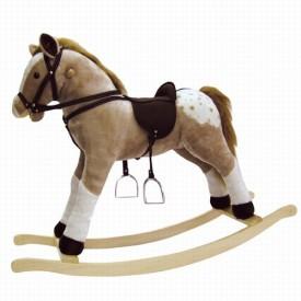 Dřevěné hračky - Puntík Houpací kůň plyšový, max