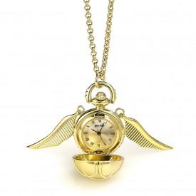 Carat Shop Náhrdelník s hodinkami Harry Potter - Zlatonka