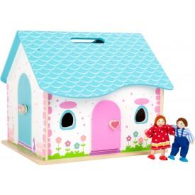 Small Foot Dřevěný skládací domeček pro panenky poškozený obal
