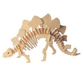Woodcraft Dřevěné 3D puzzle velký Stegosaurus
