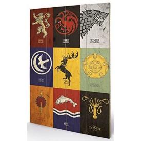 Pyramid International Nástěnný dřevěný obraz Games of Thrones - Sigils
