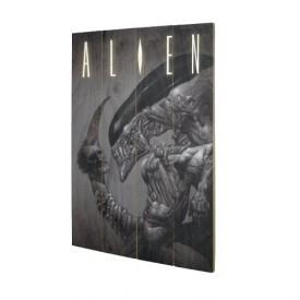 Pyramid International Nástěnný dřevěný obraz Aliens - Head on Tail