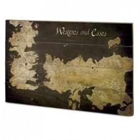Pyramid International Nástěnný dřevěný obraz Games of Thrones - Westeros a Essos