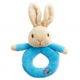 Rainbow Chrastítko kroužek králíček Petr & Flopsy 1 ks modrá
