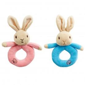 Rainbow Chrastítko kroužek králíček Petr & Flopsy 1 ks