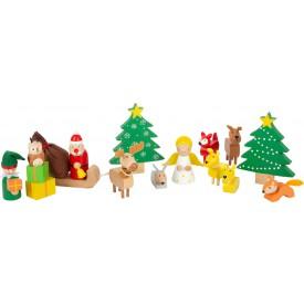 Small Foot Vánoční hra zvířátka v lese