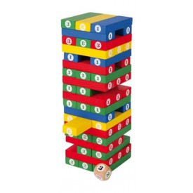 Small Foot Dřevěná barevná hra Jenga poškozený obal
