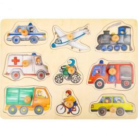 Small Foot Dřevěné puzzle Dopravní prostředky poškozený obal