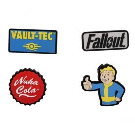 Gumové nášivky Fallout (4ks)