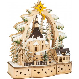 Small Foot Vánoční dekorační lampa koledníci