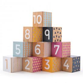 Bigjigs Toys Didaktické kostky čísla