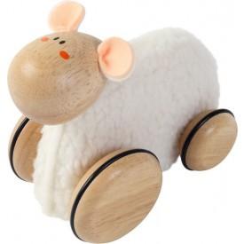 Dřevěné hračky - tahací hračky - Malá ovečka