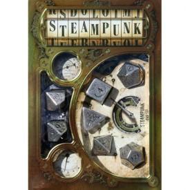 Sada kovových kostek Steampunk